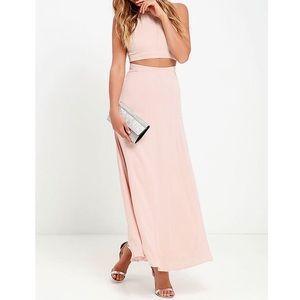 Blush Pink Two-Piece Dress